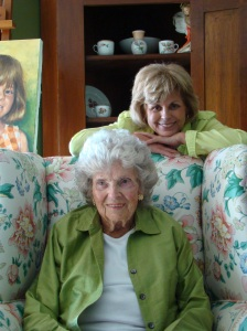 My mom and grandmother, Easter 2012